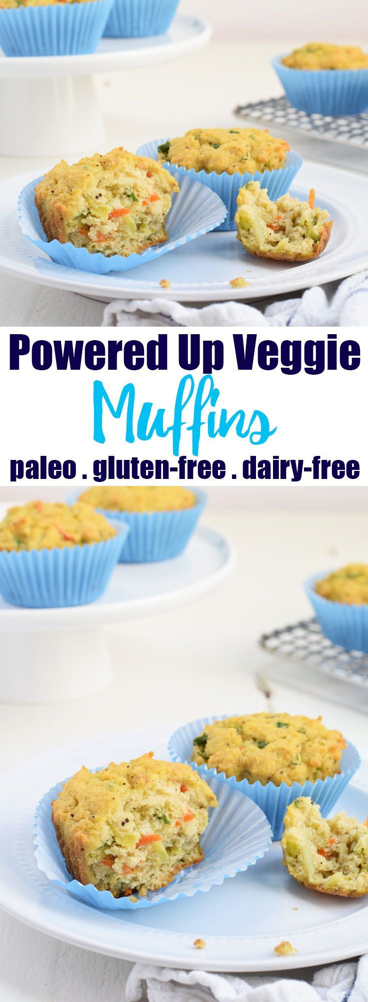 Powered Up Veggie Muffins from Living Loving Paleo! | paleo, gluten-free & dairy-free | The most delicious, savory & veggie-filled muffins! Perfect for breakfast, lunch, or a side dish for dinner!
