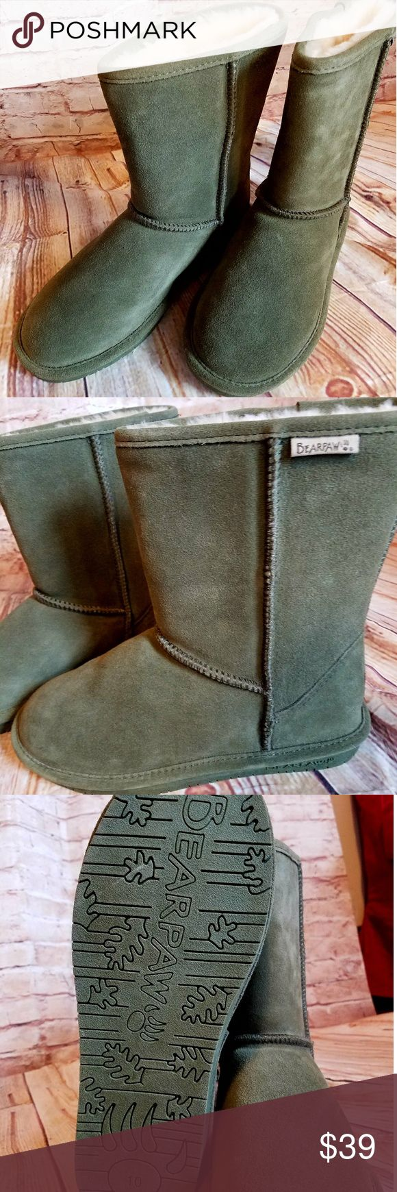 BEARPAW BOOTS FOR WOMEN SIZE 10M GREEN NEW New boots no original box w tag BearPaw Shoes Winter & Rain Boots