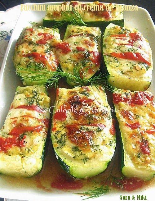 Zucchini umpluti cu crema de branza ~ Culorile din farfurie