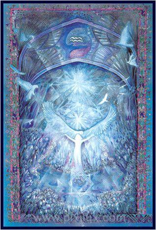 Aquarius - Zodiaque céleste by MYRRHA, créatrice, peintre, artiste de l'âme et de la lumière