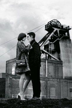 British love story between Sam Rollinson and actor Max Minghella featured in British Vogue Autumn/Winter 2013-14