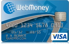 World's best Web Money Debit Card: RAXcard Web Money debit card can be used to withdraw cash from ATM as well as for purchase at shops, websites, service stations, restaurants and other places. This is best option, if you country's bank do not offer any kind of debit or credit card for online shopping or international use.