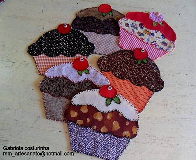 Cupcake Mug Rugs or coasters