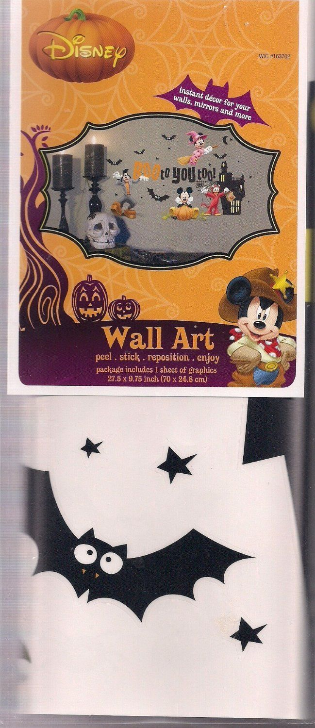 262 best mickey mouse friends halloween theme party decoration disney mickey mouse minnie donald duck goofy halloween wall art stickers decals 10 on amazon