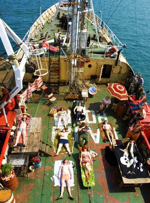 The Boat That Rocked (2009) // DIR: Richard Curtis // CAST: Philip Seymour Hoffman, Rhys Ifans, Tom Sturridge, Chris O'Dowd, Bill Nighy.