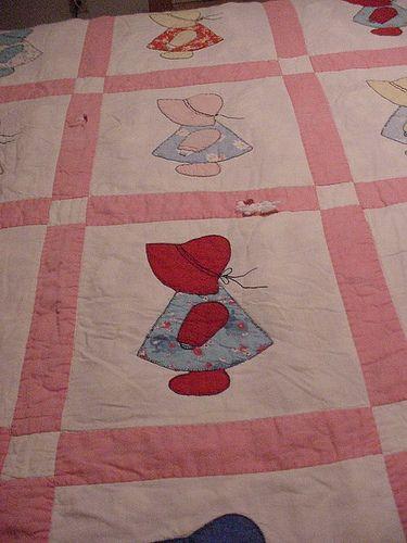 dutch dolls  sunbonnet sues    doll quilt