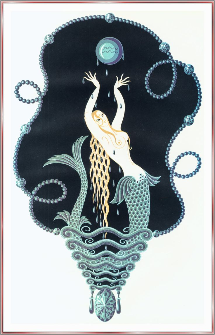 Stranded by Erte. Art Deco. portrait