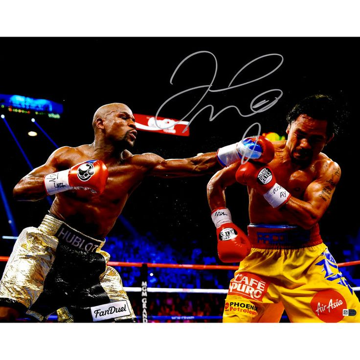 "Floyd Mayweather Fanatics Authentic Autographed 16"" x 20"" vs. Manny Pacquiao Photograph"