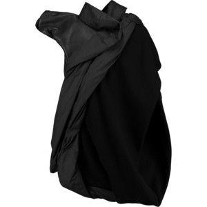 Rick Owens One-sleeve paneled leather and wool -blend jacket