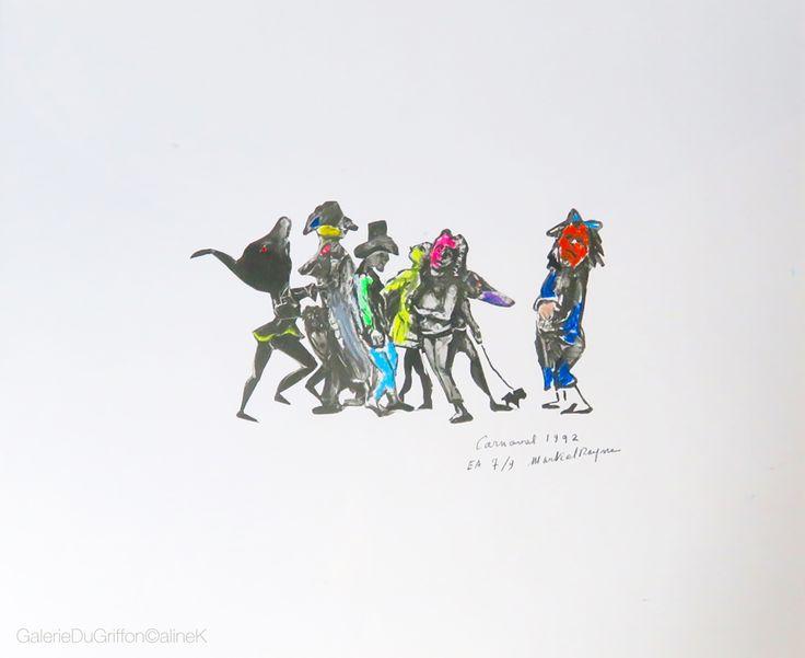 MARTIAL RAYSSE  CARNAVAL, 1992 Lithographie sur papier rehaussée au pastel gras 38,5 x 47 cm Signée, datée, titrée et numérotée E.A. 7/9