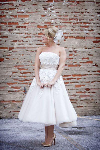 Textured overlay over blush, photo by McGowan Images: Wedding Dressses, Short Wedding Dresses, Wedding Ideas, Weddings, Bridal Gowns, Shorts, Tea Length, Short Dresses