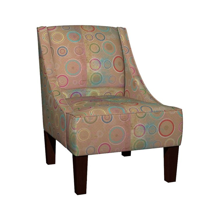 Venda Sloped Arm Chair featuring Color Burst by susankweckesser | Roostery Home Decor