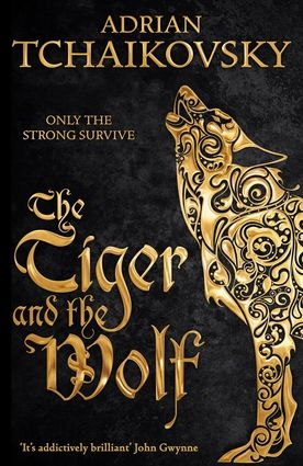 """The Tiger and the Wolf (Echoes of the Fall) by Adrian Tchaikovsky -- @publishersweekly ***starred review***: """"Tchaikovsky (the Shadows of the Apt series) opens a new epic fantasy series, Echoes of the Fall, with this brilliantly conceived and executed shape-changer Bronze Age saga featuring a heartbreaking heroine... Readers will be captivated by the well-realized characters, splendid action, and a satisfying conclusion that promises more wonders to come."""