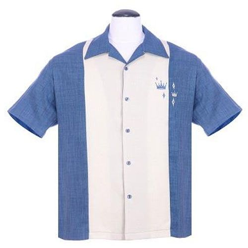 Crown dual blue bowling shirt