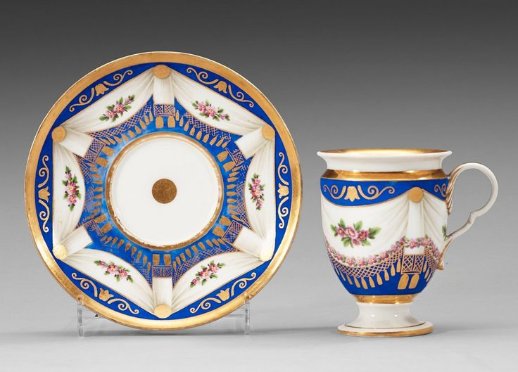 Meissen Porcelain Manufactory (Germany) — Cup & Saucer  (1200x863)