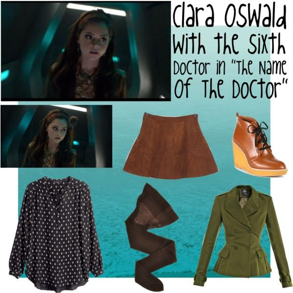 """""""Clara Oswald Outfit - The Name of the Doctor - 6th Doctor"""" by ilovejennalots on Polyvore"""