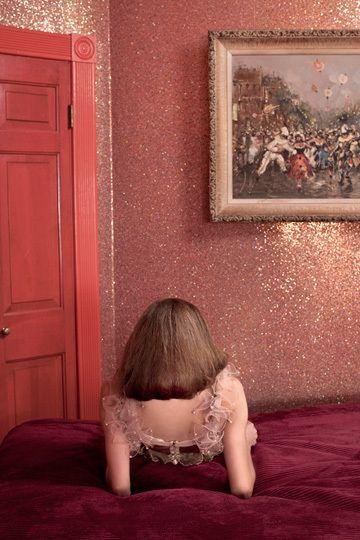 Pink glitter walls