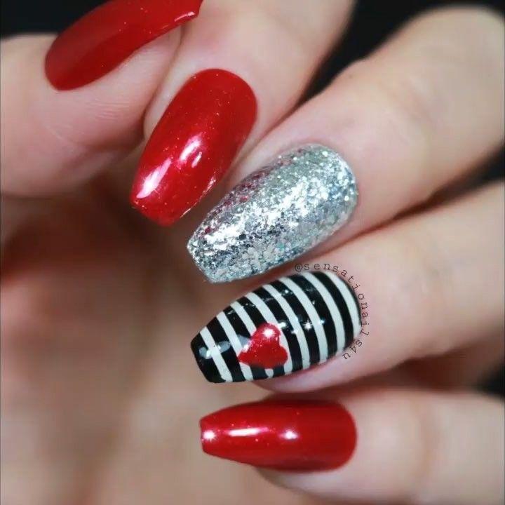 Sensationails4u On Instagram Videotutorial Of My San Valentine S Nails Shopallheart Moter S Lo Valentines Nails Nail Designs Valentines Christmas Nails