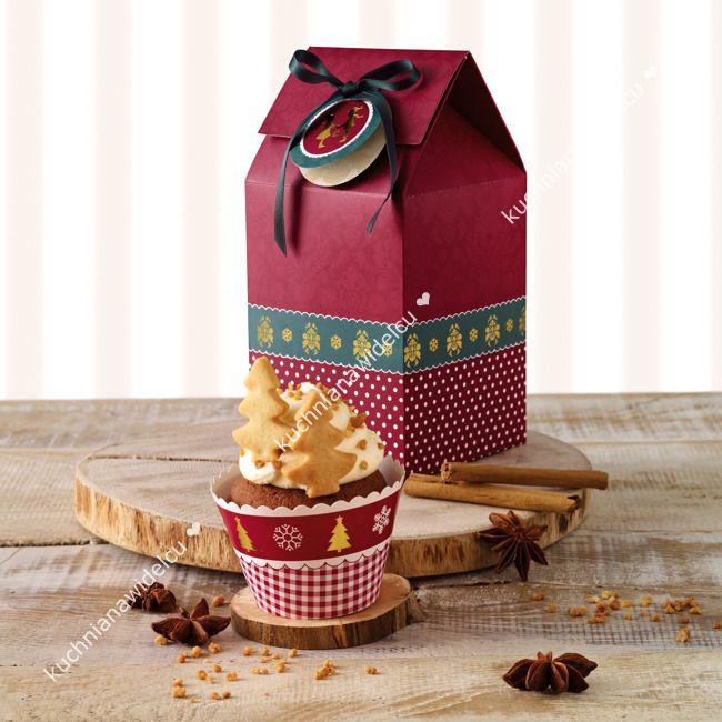Pudełka prezentowe na cupcake i ciastka- 2 szt | BIRKMANN CHRISTMAS