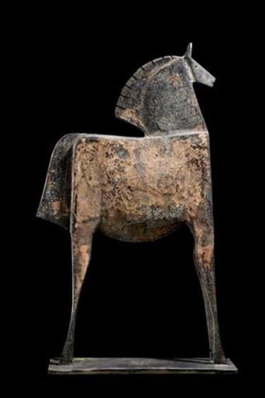 'Caballo Epalios' by Spanish sculptor Carlos Matta (b.1949). Bonze, lost wax method, editio of 8, 77 x 48 x 13 cm. via Absolute Art Gallery