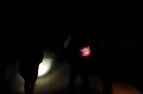 """""""Real dark walk, with random lanterns and iPads in the bag to show the light""""  Walking from Sant Antoni to Santa Agnés de Corona @23.2.2013.  Pictures by: Liisi Toom   http://ibizalinker.com"""