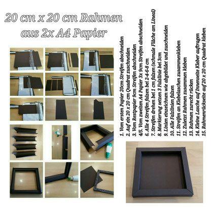 Rahmen 20 cm x 20 cm ... aus 2xA4 Papier