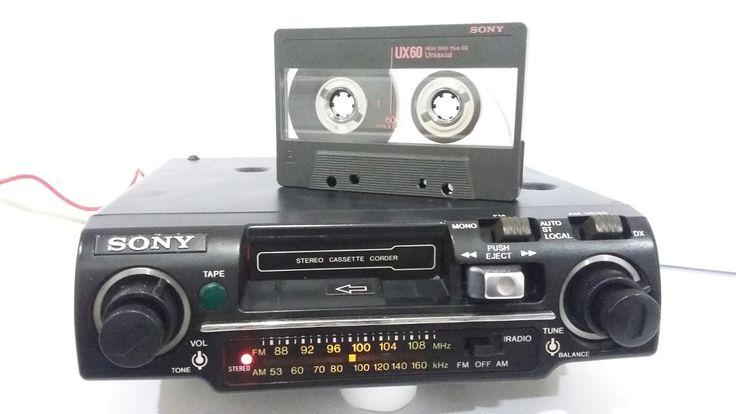 Toca Fitas Radio Am/fm Sony Modelo Tc-26fa