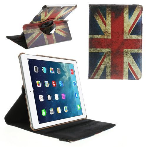 Mesh - iPad Air Hoes - Rotatie Cover Britse Vlag | Shop4TabletHoes