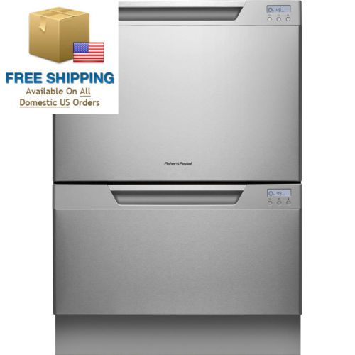 "DishDrawer Series DD24DCX7 24"" Semi Integrated Double Drawer Dishwasher with..."