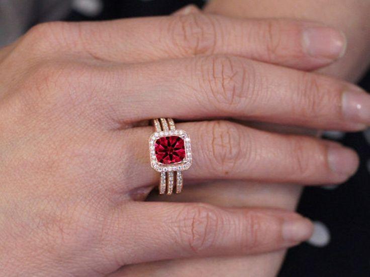 Amazing Ruby Wedding Ring
