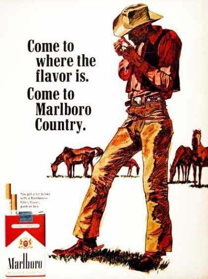 Come to Marlboro Country, 1960's Ad   I would be willing to travel here.