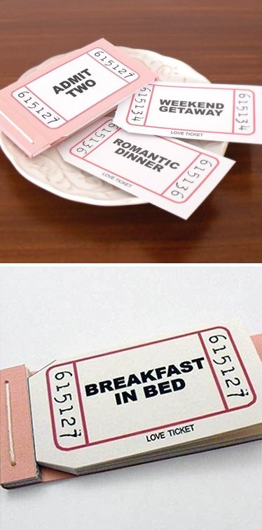 Inspiration DIY - Fun idea to make. Naughty or Nice Vouchers.