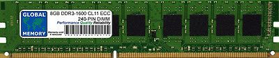 8GB DDR3 1600MHz PC3-12800 240-PIN ECC UDIMM MEMORY RAM FOR SERVERS/WORKSTATIONS