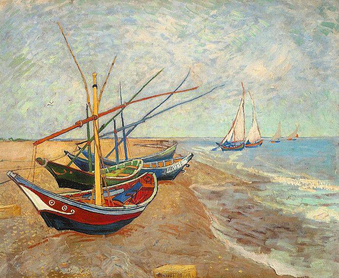 Vincent van Gogh, Vissersboten op het strand van Les Saintes-Maries-de-la-Mer, 1888, olieverf op doek, 65 x 81.5 cm, Van Gogh Museum, Amsterdam