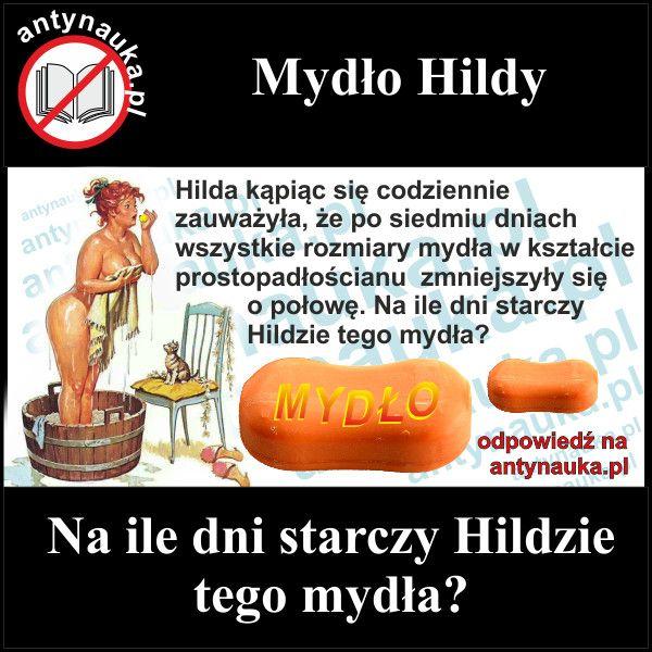 Zagadki logiczne, Zagadka logiczna - mydło Hildy