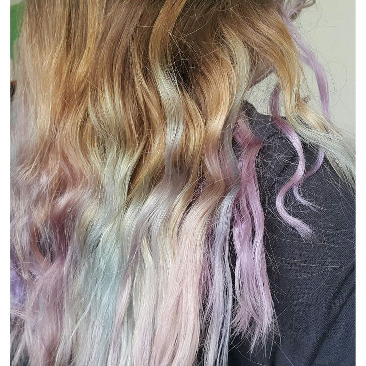 #Faded #colourful #hair #hairspirations