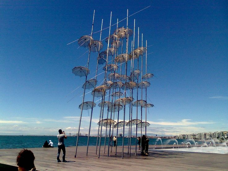 View of Thessaloniki - Seafront, Ombrellas Art