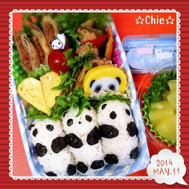 posted from @mayqoo0116 앙녕!( ´∀`)/今日はパンダおむすび中華弁当~♡ #bento #obento #obentoart #obentobox #lunch #lunchbox #弁当 #도시락 #おべんとう #べんとう…
