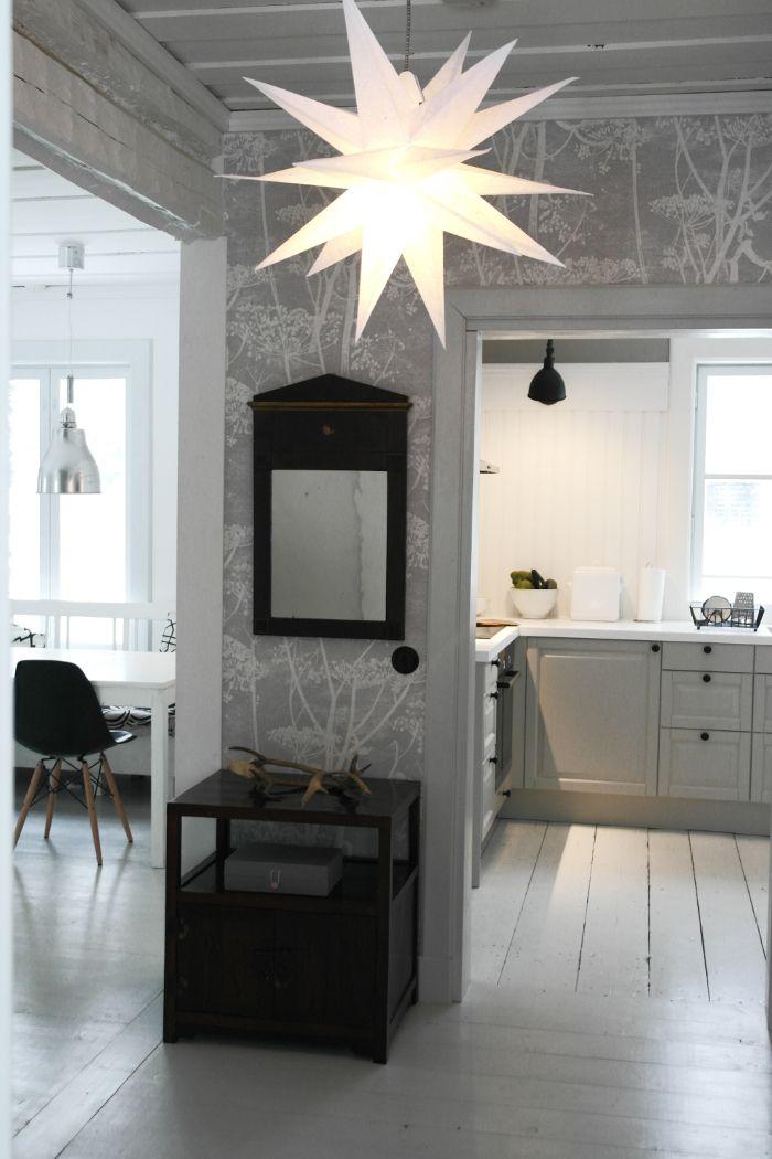 Grey white black interior