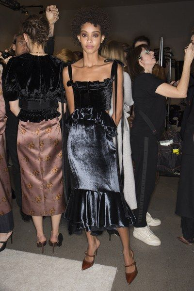 Go behind the scenes of the Brock Collection Fall 2018 show.