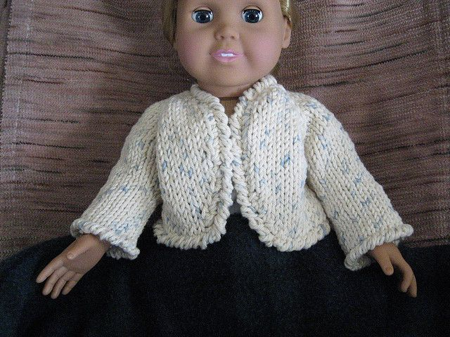 Free Ravelry AG Doll pattern shrug
