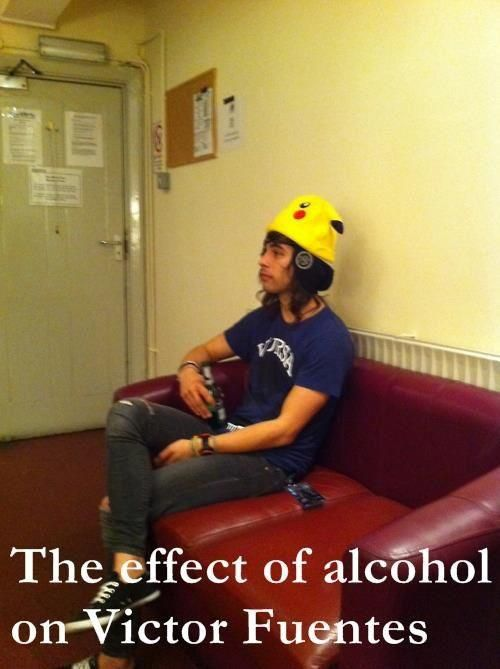 The effect of Robyn, Alcohol and Victor Fuentes = Vic's in Robyns closet
