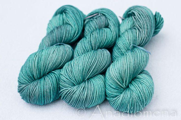 Cloud DK - Blue Topaz- Colour Adventures (fibers: superwash merino, nylon, cashmere) by ColourAdventures on Etsy https://www.etsy.com/listing/209667248/cloud-dk-blue-topaz-colour-adventures