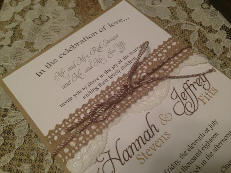 Country Chic Wedding Invites