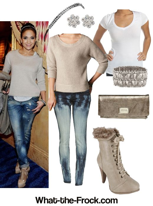 Love J Lo....really dig this cute/casual style!