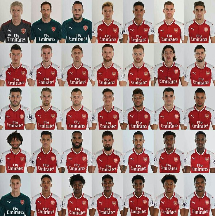 Arsenal FC Team Squad Season 2017/2018