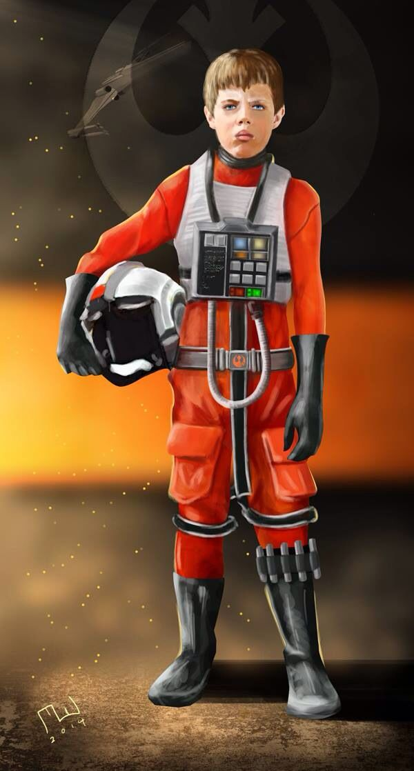 Lachlan - X-Wing Fighter Pilot. Digital Painting.