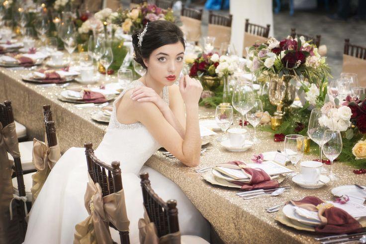 A beautiful bride at a beautiful table.