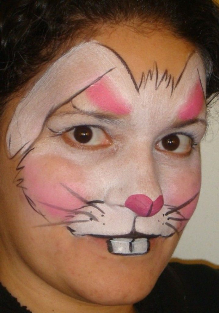 21 best 1 BUNNY images on Pinterest Face paintings Bunny face