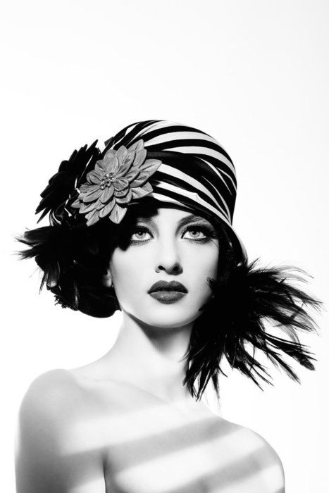 Feathered hat.  Hard to pull off.